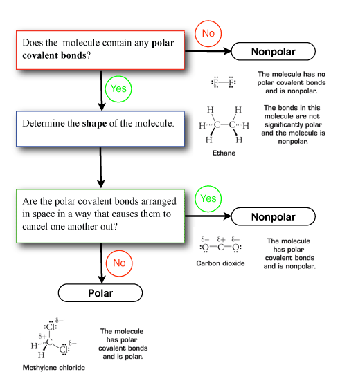 Figure 5 A Flow Chart Showing The Steps Used To Determine Molecular Polarity Examples Shown Are From 4 7 In Raymond